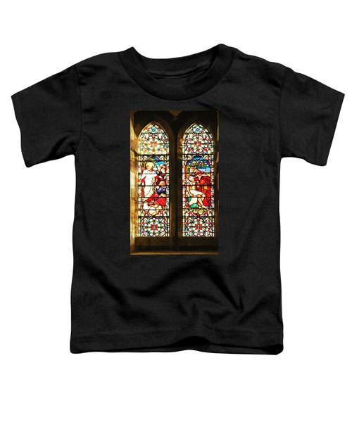 Oil Painting - Light Filtering Through Stained Glass Windows Toddler T-Shirt