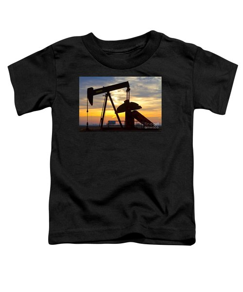 Oil Pump Sunrise Toddler T-Shirt by James BO  Insogna