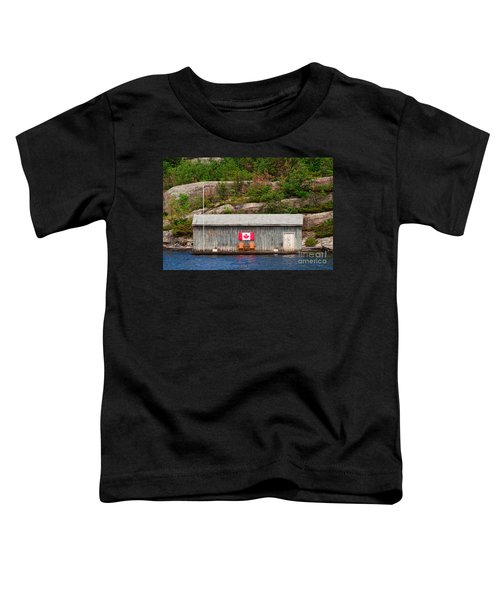 Old Boathouse With Two Muskoka Chairs Toddler T-Shirt