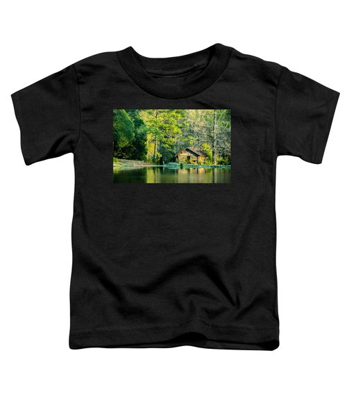 Old Cabin By The Pond Toddler T-Shirt