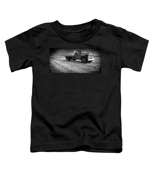 Old Farm Truck Black And White Toddler T-Shirt