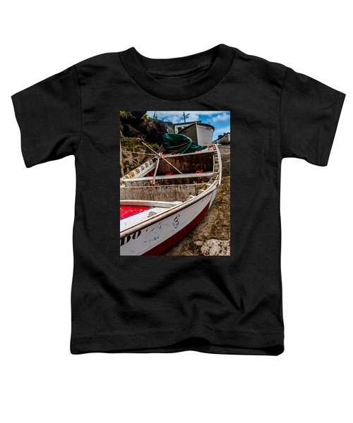 Old Wooden Fishing Boat On Dock  Toddler T-Shirt