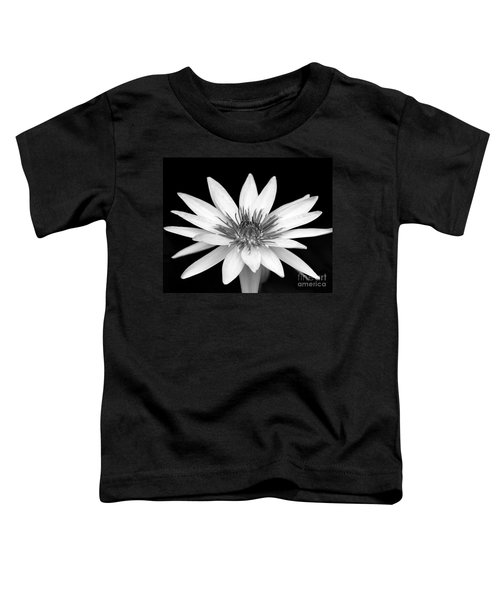 One Black And White Water Lily Toddler T-Shirt