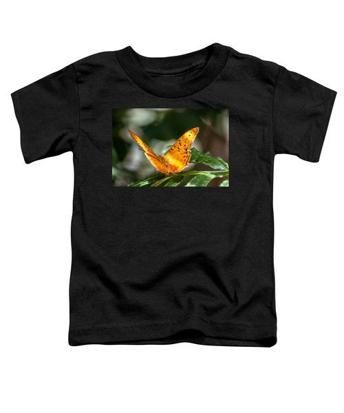 Orange Butterfly Toddler T-Shirt