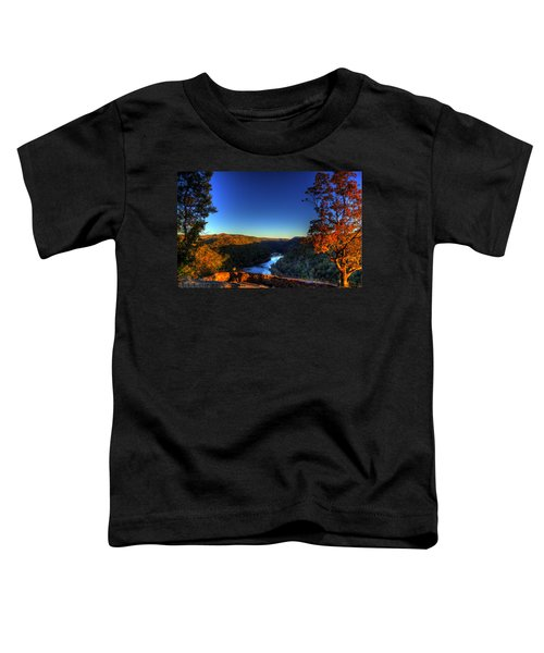 Toddler T-Shirt featuring the photograph Overlook In The Fall by Jonny D