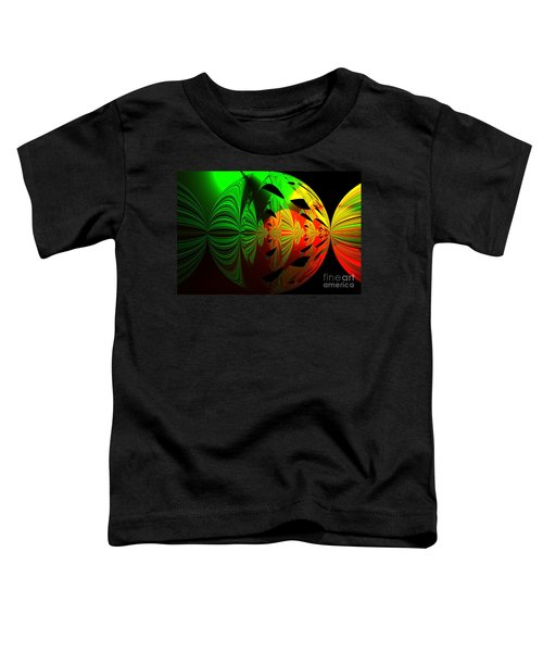 Art. Unigue Design.  Abstract Green Red And Black Toddler T-Shirt