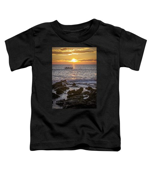 Paddlers At Sunset Portrait Toddler T-Shirt