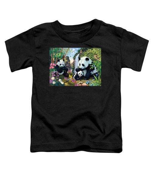 Panda Valley Toddler T-Shirt by Steve Read