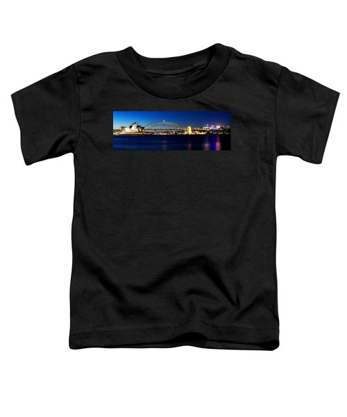 Panoramic Photo Of Sydney Night Scenery Toddler T-Shirt