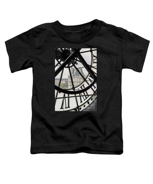 Paris Clock Toddler T-Shirt