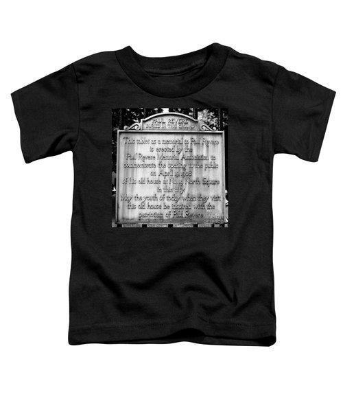 Paul Revere Burial Plaque Boston Massachusetts Toddler T-Shirt