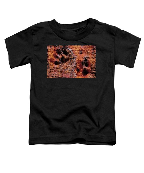 Paw Prints Rust Over Time Toddler T-Shirt