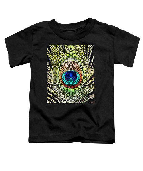Peacock Feather - Stone Rock'd Art By Sharon Cummings Toddler T-Shirt