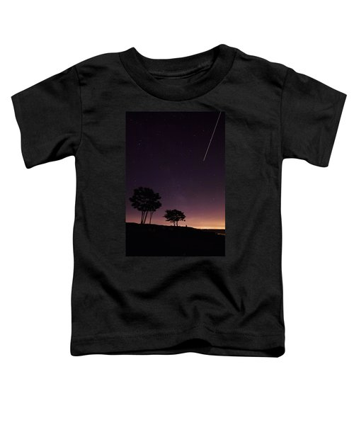 Perseids Meteor Over Sasco Hill Toddler T-Shirt