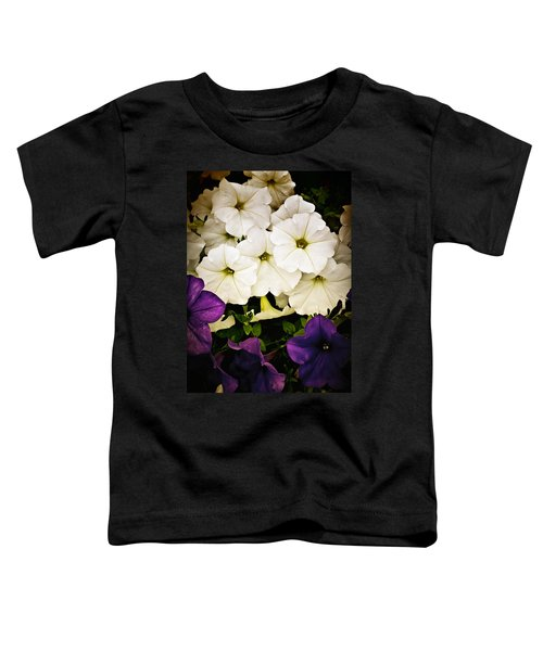 Toddler T-Shirt featuring the photograph Petunias by Susan Kinney