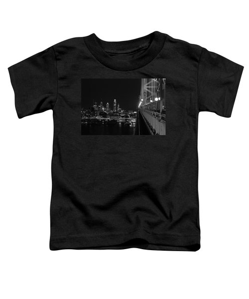 Philadelphia Night B/w Toddler T-Shirt