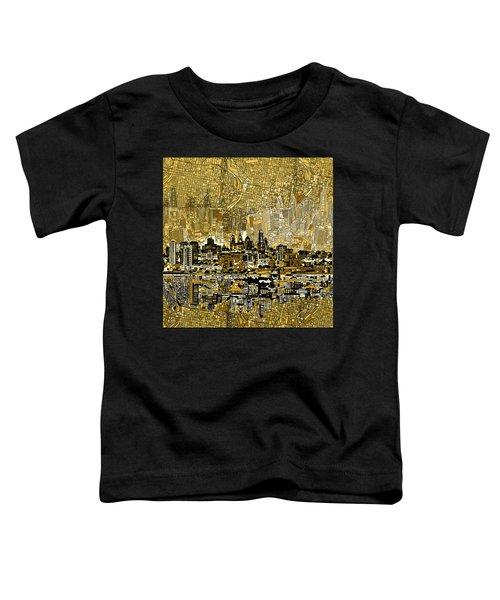 Philadelphia Skyline Abstract 3 Toddler T-Shirt