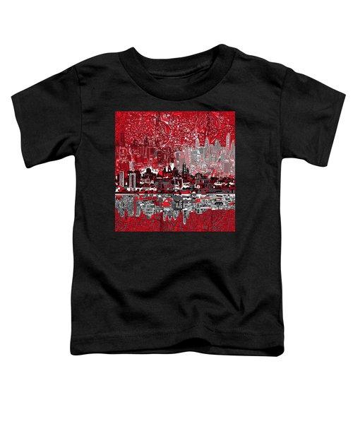 Philadelphia Skyline Abstract 4 Toddler T-Shirt by Bekim Art