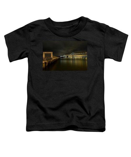 Pier 14 And Bay Bridge At Night Toddler T-Shirt