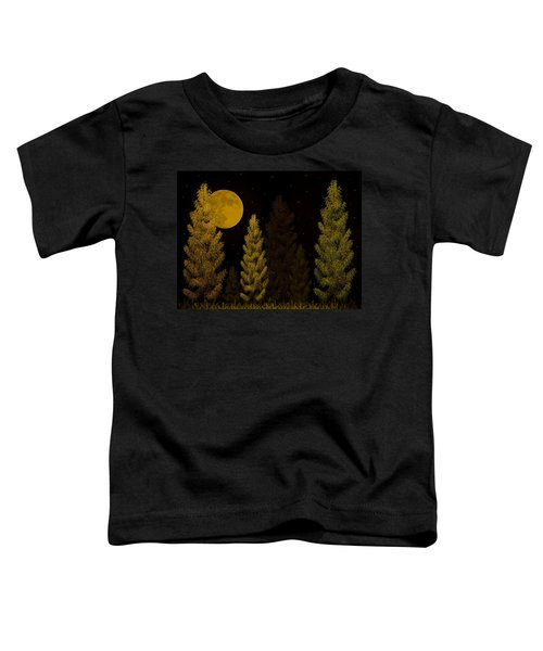Pine Forest Moon Toddler T-Shirt