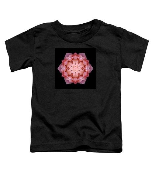 Pink Fall Rose Flower Mandala Toddler T-Shirt