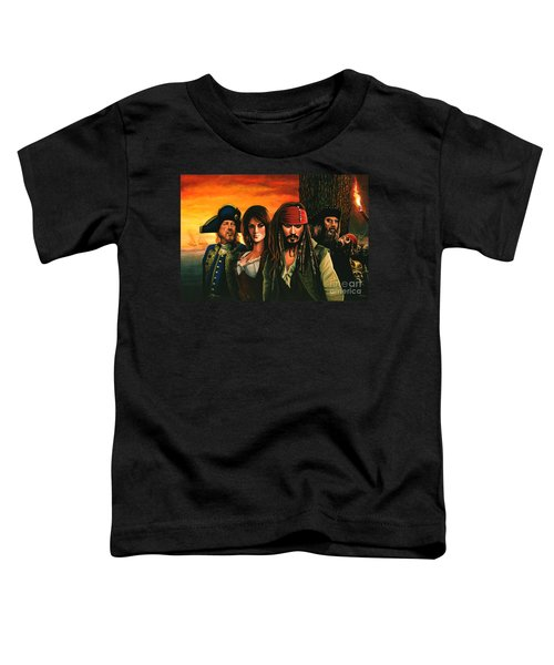 Pirates Of The Caribbean  Toddler T-Shirt by Paul Meijering