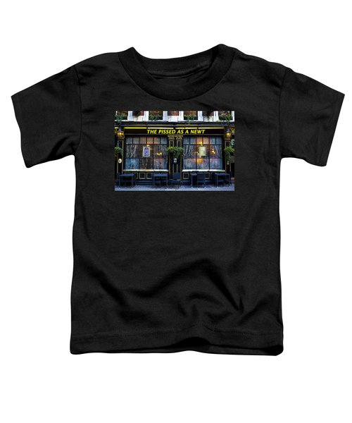 Pissed As A Newt Pub  Toddler T-Shirt by David Pyatt