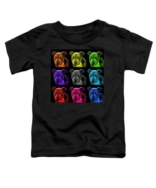 Pitbull Puppy Pop Art - 7085 Bb - M Toddler T-Shirt