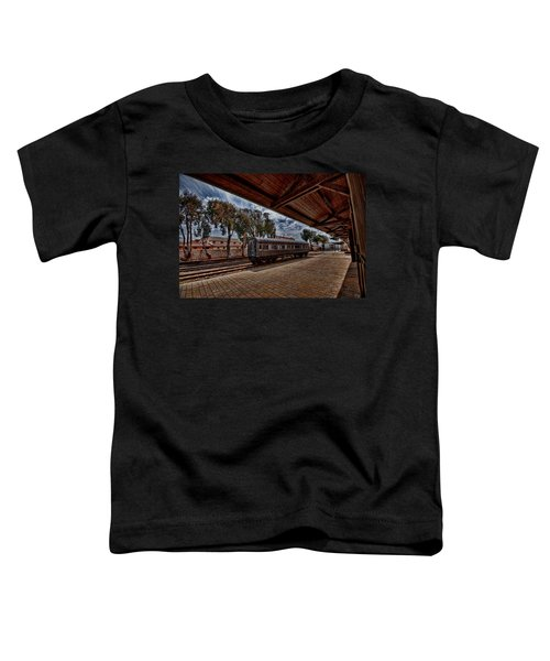 platform view of the first railway station of Tel Aviv Toddler T-Shirt