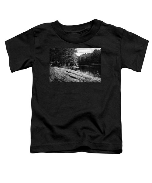Toddler T-Shirt featuring the photograph Pondside by Mark Myhaver