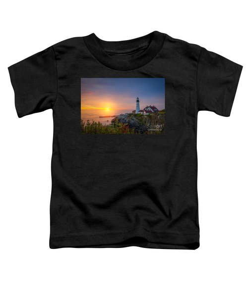 Portland Head Light Sunrise  Toddler T-Shirt