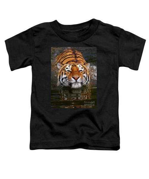 Portrait Of A Bathing Siberian Tiger Toddler T-Shirt