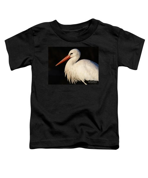 Portrait Of A Stork With A Dark Background Toddler T-Shirt