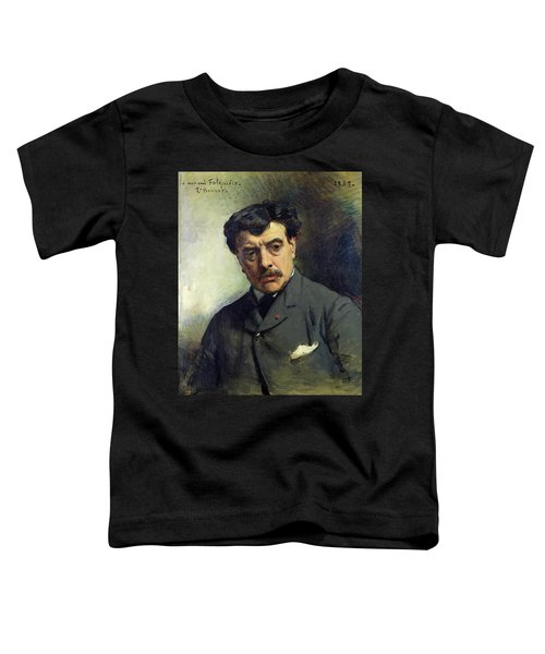 Portrait Of Alexander Falguiere 1831-1900 1887 Oil On Canvas Toddler T-Shirt