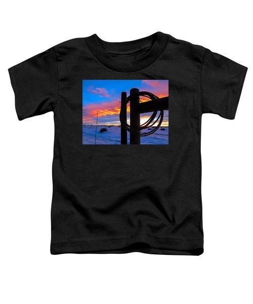 Prairie Fence Sunset Toddler T-Shirt