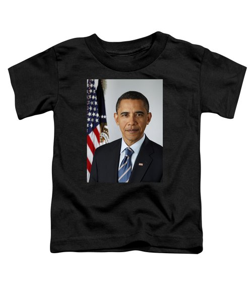 President Barack Obama Toddler T-Shirt by Pete Souza