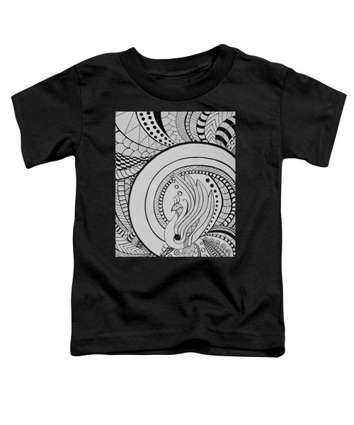 Psychedelic Peacock - Zentangle Drawing - Ai P.nilson Toddler T-Shirt