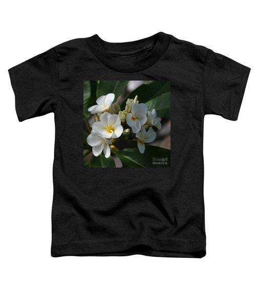 Pua Melia Na Puakea Onaona Tropical Plumeria Toddler T-Shirt