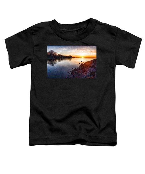 Purple Rocks Sunrise - Lake Ontario Impressions Toddler T-Shirt