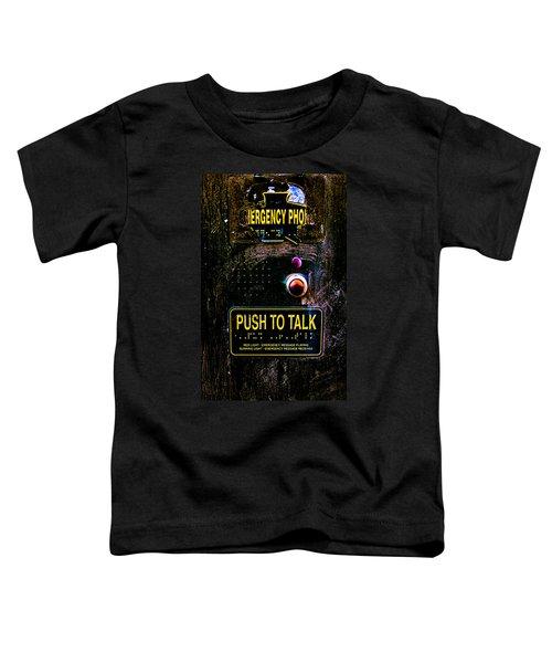 Push To Talk Toddler T-Shirt by Bob Orsillo