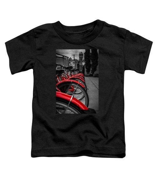 Red Bicycles Toddler T-Shirt
