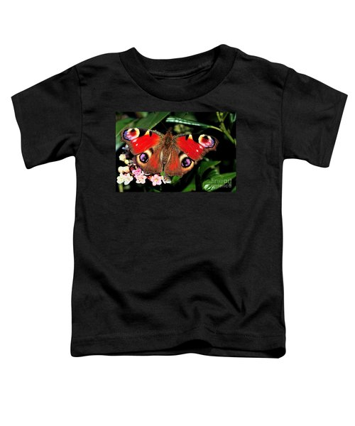 Red Butterfly In The Garden Toddler T-Shirt