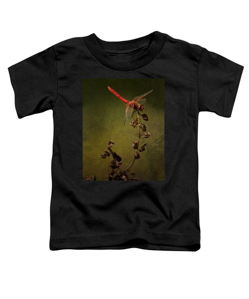 Red Dragonfly On A Dead Plant Toddler T-Shirt