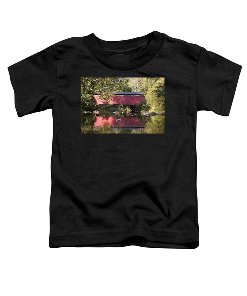Red Fairhill Covered Bridge Two Toddler T-Shirt