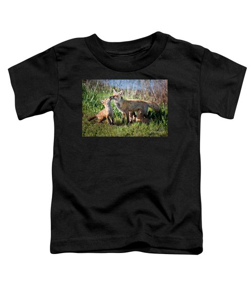 Red Fox Family Toddler T-Shirt