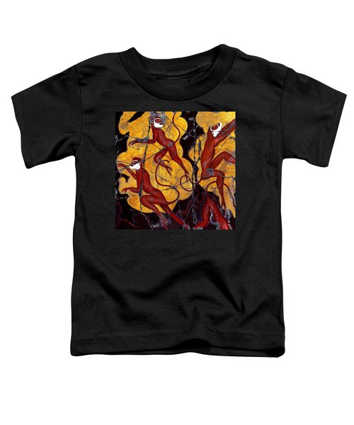 Red Monkeys No. 3 - Study No. 1 Toddler T-Shirt