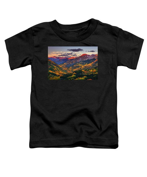 Red Mountain Pass Sunset Toddler T-Shirt