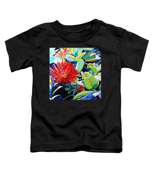 Red Ohia Lehua Flower Toddler T-Shirt