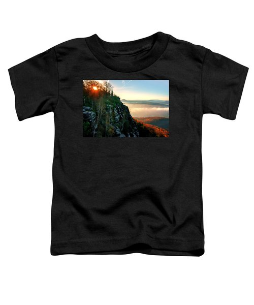 Red Sun Rays On The Lilienstein Toddler T-Shirt
