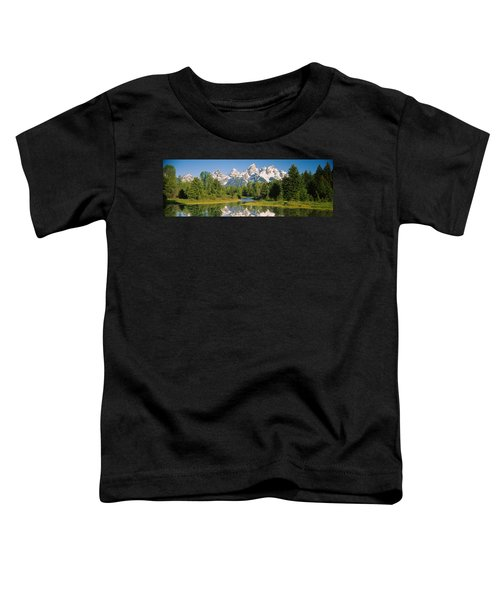 Reflection Of A Snowcapped Mountain Toddler T-Shirt